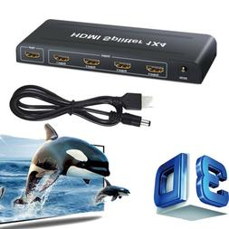 4K 3D HDMI 2.0 Cable Repeater Mirror Splitter Amplifier HUB