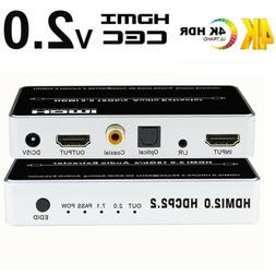 4K HDMI 2.0 Audio Extractor Splitter HDMI to HDMI+Toslink Co