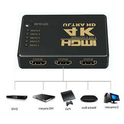 5 in 1 HDMI Splitter Switch Adapter Switcher 4K Ultra HD HDC
