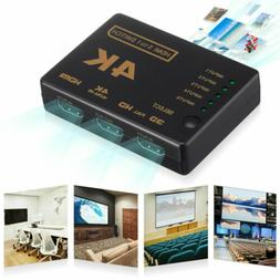 5 Port UHD 3D 4K 1080p HDMI Splitter Switch Selector Switche