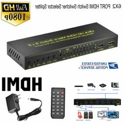 6X2 PORT HDMI Splitter Switch Selector Switcher Hub+Remote 1
