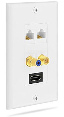 Fosmon Gold Plated HDMI with Ethernet / RCA Mono Audio / F C