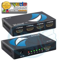 HDMI Splitter 1 in 4 Out Movcle Full Ultra HD 4Kx2K 1080P 1X