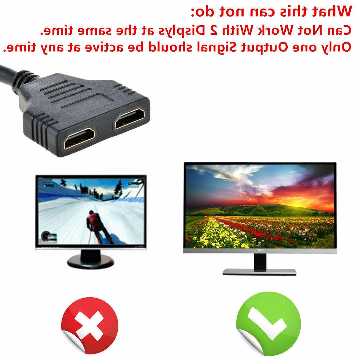 1080P to 2 In 2 Out Cable Adapter Converter USA