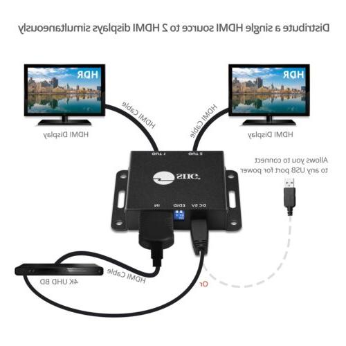 SIIG HDMI Mini Splitter with Scaling