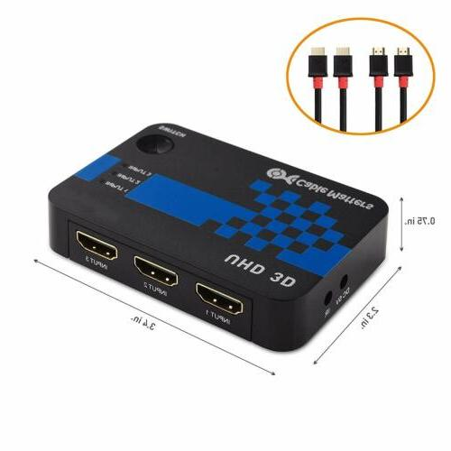 Cable 4K HDMI Switch Resolution
