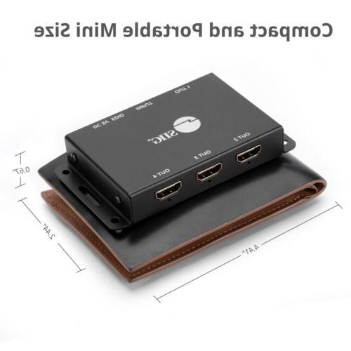 SIIG 4-Port HDMI 2.0 Mini HDR with Auto Scaling and