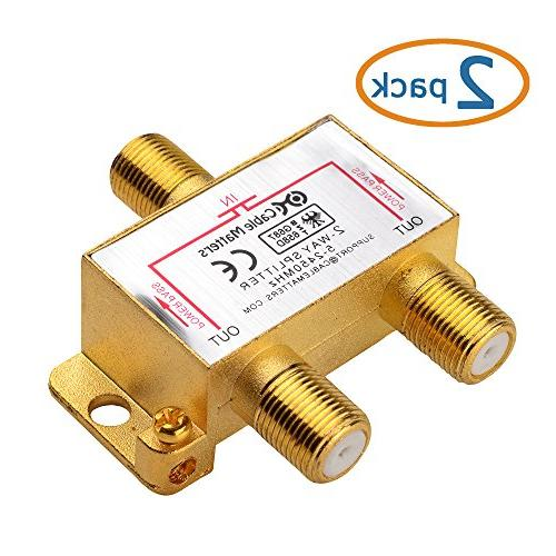 Cable Gold Plated Way Coaxial Splitter