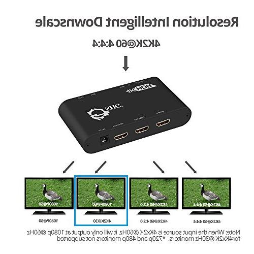 SIIG 4K Splitter   @60Hz, HDCP Auto Low   Out