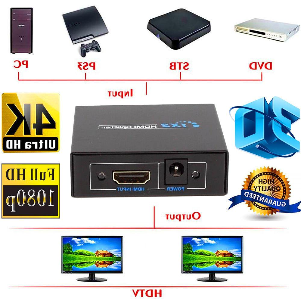 Full HDMI 1X2 Repeater 1080p 4K Switch 1 in