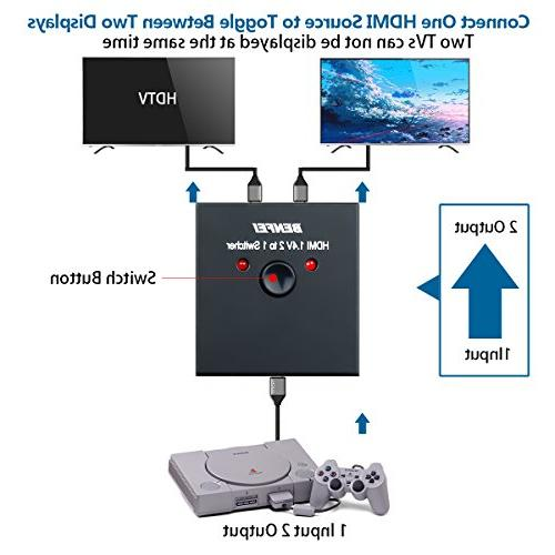 Ports Bi-Direction Manual x Hub-HDCP Passthrough-Supports Ultra 4K 3D 1080P
